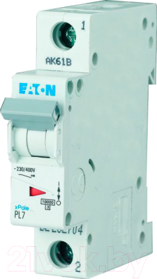 Выключатель автоматический Eaton PL7 1P 25A С 10кА 1М / 262706