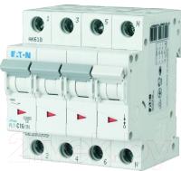 Выключатель автоматический Eaton PL7 4P 10A С 10кА 4М / 165195 -