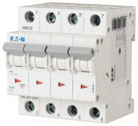 Выключатель автоматический Eaton PL7 4P 16A С 10кА 4М / 107329 -