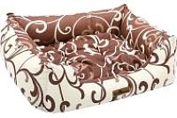 Лежанка для животных Happy Friends Пухлик №2 (молочный шоколад) -
