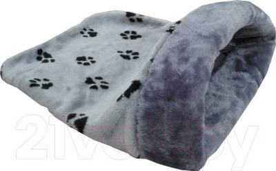 Домик для животных Happy Friends Лапки с окантовкой (серый)
