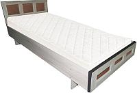 Полуторная кровать Барро М1 КР-017.11.02-21 120x195 (дуб сонома) -