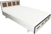 Двуспальная кровать Барро М1 КР-017.11.02-19 160x190 (дуб сонома) -