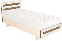 Полуторная кровать Барро М2 КР-017.11.02-13 120x186 (дуб девон) -