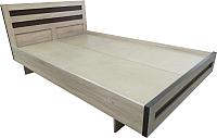 Полуторная кровать Барро М2 КР-017.11.02-14 140x186 (дуб сонома) -
