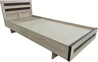 Полуторная кровать Барро М2 КР-017.11.02-21 120x195 (дуб сонома) -