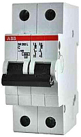 Выключатель автоматический ABB S 202 2P С 63А 6кА 2M / 2CDS252001R0634 -