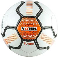 Футбольный мяч Novus Turbo PVC (размер 5, белый/черный/оранжевый) -