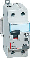 Дифференциальный автомат Legrand DX3 1P+N C 16A 30мА 6kA 2M / 411002 -