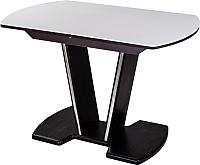 Обеденный стол Домотека Румба ПО 70x110-147 (белый/венге/03) -