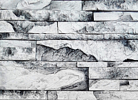 Декоративный камень Polinka Сланец Карпатский белый мрамор 1400М (395×95×18) -