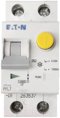 Дифференциальный автомат Eaton PFL7 1Р+N 32А 30мА С 10кА 2М / 263555