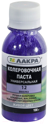 Колеровочная паста Лакра №12