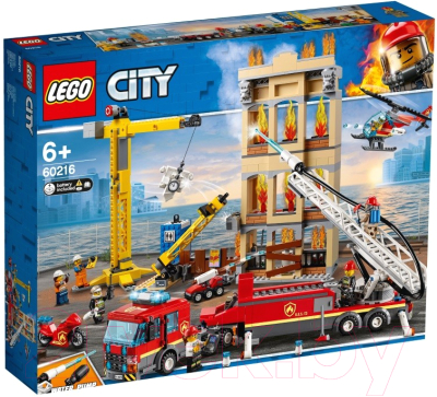 Конструктор Lego City Центральная пожарная станция 60216