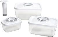 Контейнеры для вакуумного упаковщика Status Vac-Glass-Set (белый) -