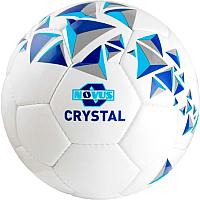 Футбольный мяч Novus Crystal PVC (размер 5, белый/синий/голубой) -