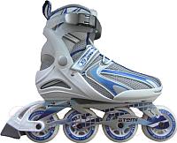 Роликовые коньки Atemi X9 Lady Abec7 (р-р 36, синий/белый/серый) -