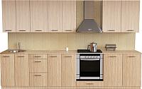Готовая кухня Хоум Лайн Луиза Люкс 3.0 (флитвуд шампань/флитвуд белый) -