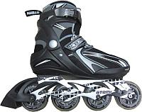 Роликовые коньки Atemi X9 Man Abec7 (р-р 40, черный/серый) -