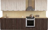 Готовая кухня Хоум Лайн Луиза Люкс 3.0 (венге мали/сосна касцина) -