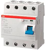 Устройство защитного отключения ABB F204 4P 63A 30mA 6kА 4М / 2CSF204001R1630 -