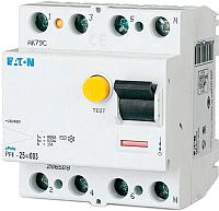 Устройство защитного отключения Eaton PF4 4P 40A 30мА 4.5кА 4М / 293175 -
