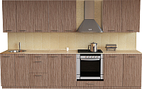 Готовая кухня Хоум Лайн Луиза Люкс 3.0 (древесина шорвуд) -