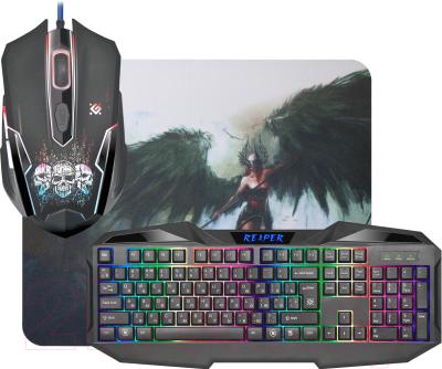 Клавиатура+мышь Defender Reaper MKP-018 RU / 52018 (с ковриком)