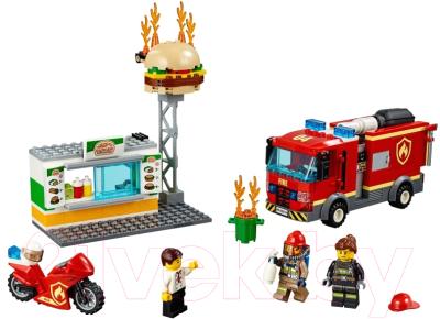 Конструктор Lego City Пожар в бургер-кафе 60214