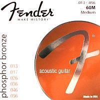 Струны для акустической гитары Fender 60M 13-56 -