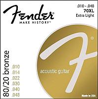 Струны для акустической гитары Fender 70XL 80/20 BRNZ BALL END 10-48 -