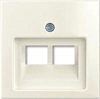 Лицевая панель для розетки ABB Basic 55 1753-0-0209 (шале-белый) -