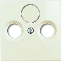 Лицевая панель для розетки ABB Basic 55 1724-0-4316 (шале-белый) -
