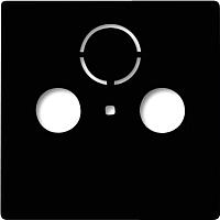 Лицевая панель для розетки ABB Basic 55 1724-0-4314 (шато-черный) -