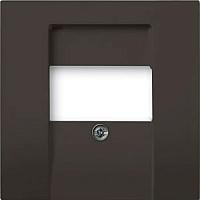 Лицевая панель для розетки ABB Basic 55 1724-0-4315 (шато-черный) -