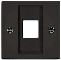 Лицевая панель для розетки ABB Basic 55 1753-0-0214 (шато-черный) -