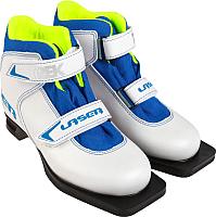 Ботинки для беговых лыж TREK Laser 2 (белый/синий, р-р 30) -