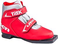 Ботинки для беговых лыж TREK Laser 3 (красный/серебристый, р-р 34) -