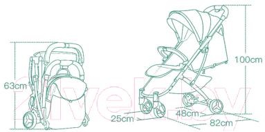 Детская прогулочная коляска Sundays Baby S600 (светло-розовый)