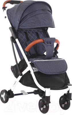 Детская прогулочная коляска Sundays Baby S600 Plus (белая база, джинс)