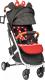 Детская прогулочная коляска Sundays Baby S600 Plus (белая база, черный с красными горошинами) -