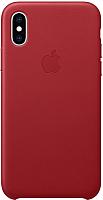 Чехол-накладка Apple Leather Case для iPhone XS (PRODUCT)RED / MRWK2 -