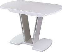 Обеденный стол Домотека Румба ПО 70x110-147 (белый/белый/03) -