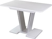 Обеденный стол Домотека Румба ПР 70x110-147 (белый/белый/03) -