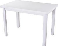 Обеденный стол Домотека Румба ПР 80x120-157 (белый/белый/04) -