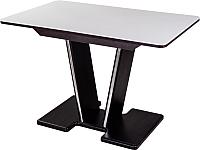 Обеденный стол Домотека Румба ПР 70x110-147 (белый/венге/03) -