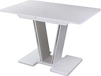 Обеденный стол Домотека Танго ПР 70x110-147 (белый/белый/03) -