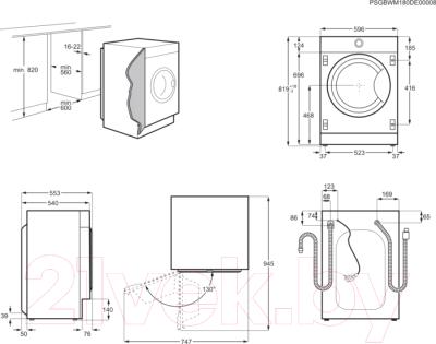 Стирально-сушильная машина встраиваемая Electrolux EW7W3R68SI