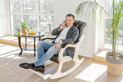 Кресло-качалка Импэкс 77 (венге/Dundi 112)