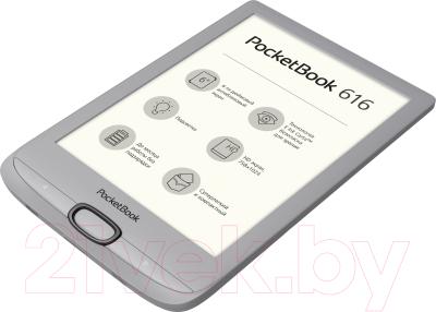 Электронная книга PocketBook 616 / PB616-S-CIS (серебристый)
